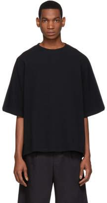Jil Sander Black Waffle Knit T-Shirt