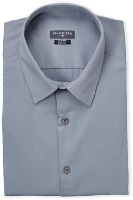 Van Heusen Grey Mist Stretch Slim Fit Dress Shirt