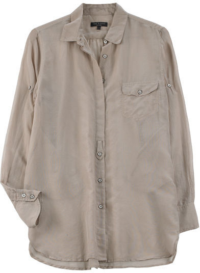 Rag & Bone Shirred Boyfriend Shirt
