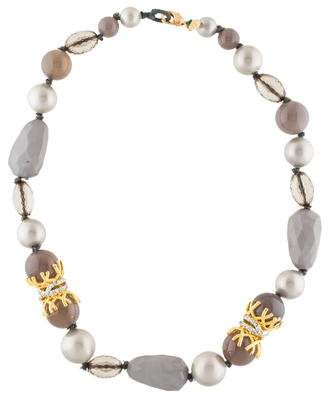 Alexis Bittar Faux Pearl Bead Necklace