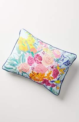 Anthropologie Paint + Petals Accent Pillow