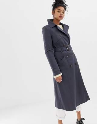 Asos Design DESIGN longline classic trench coat