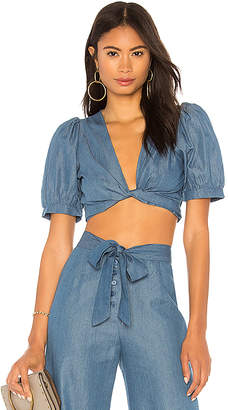 Nightcap Clothing Chambray Wrap Top