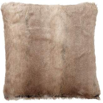 Pottery Barn Teen Reversible Fur Pillow Cover, 18x18, Wolf