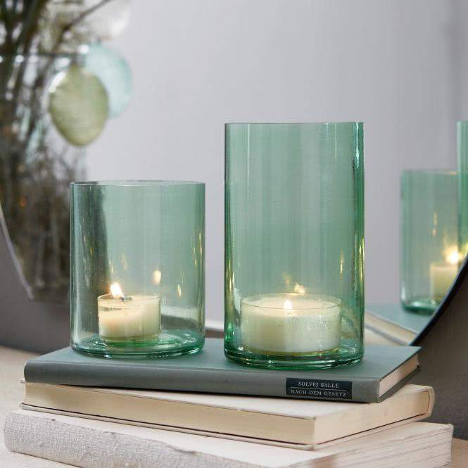 LOBERON Windlicht 2er Set Turquoise