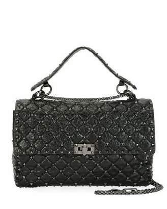 Valentino Rockstud Spike Large Quilted Leather Shoulder Bag
