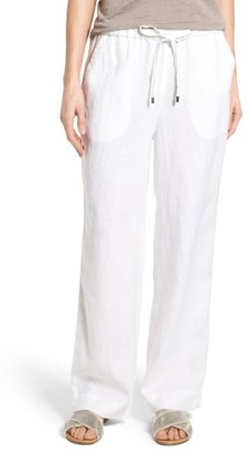 Women's Chaus Linen Drawstring Pants $69 thestylecure.com