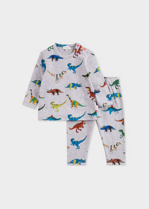 Paul Smith Baby Boys' Grey 'Dinosaur' Print Pyjamas