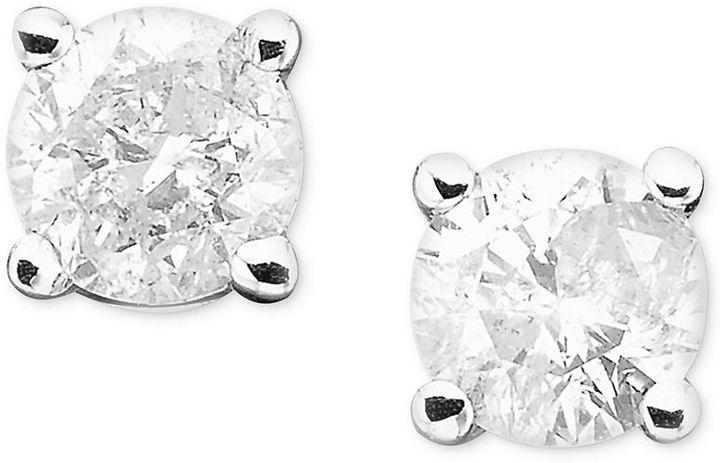 Diamond Earrings, 14k White Gold Diamond Studs (1/4 ct. t.w.)