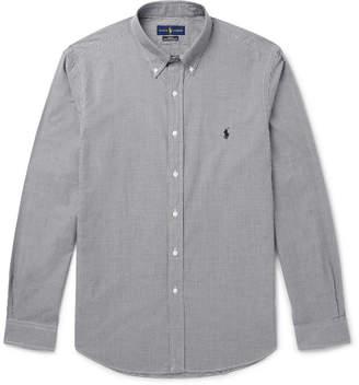 Polo Ralph Lauren Slim-Fit Button-Down Collar Gingham Cotton-Poplin Shirt