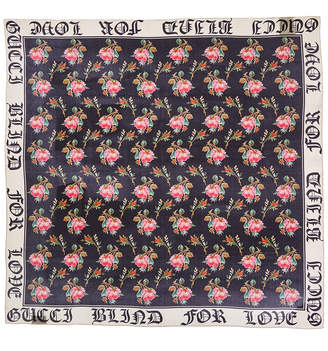 Gucci Blind For Love Silk Scarf