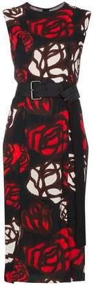 Marni Sleeveless rose print dress