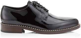 Jimmy Choo MILES Black Patent Leather Lace Up Shoes