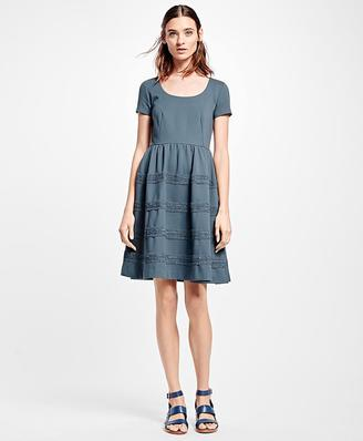 Stretch Ponte Fit-and-Flare Dress $298 thestylecure.com