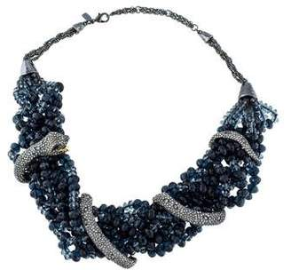 Alexis Bittar Dark Alchemy Crystal Serpent Torsade Bib Necklace