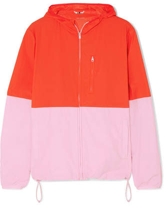 Tory Sport Hooded Two-tone Shell Jacket - Red