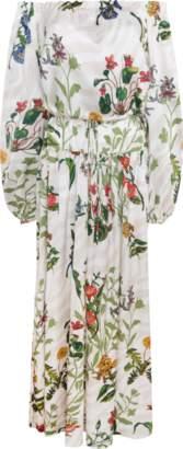 Adriana Iglesias Creek Silk Satin Maxi Dress