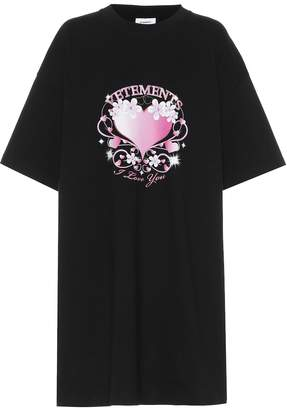 da18dc644655 Vetements Printed oversized cotton T-shirt