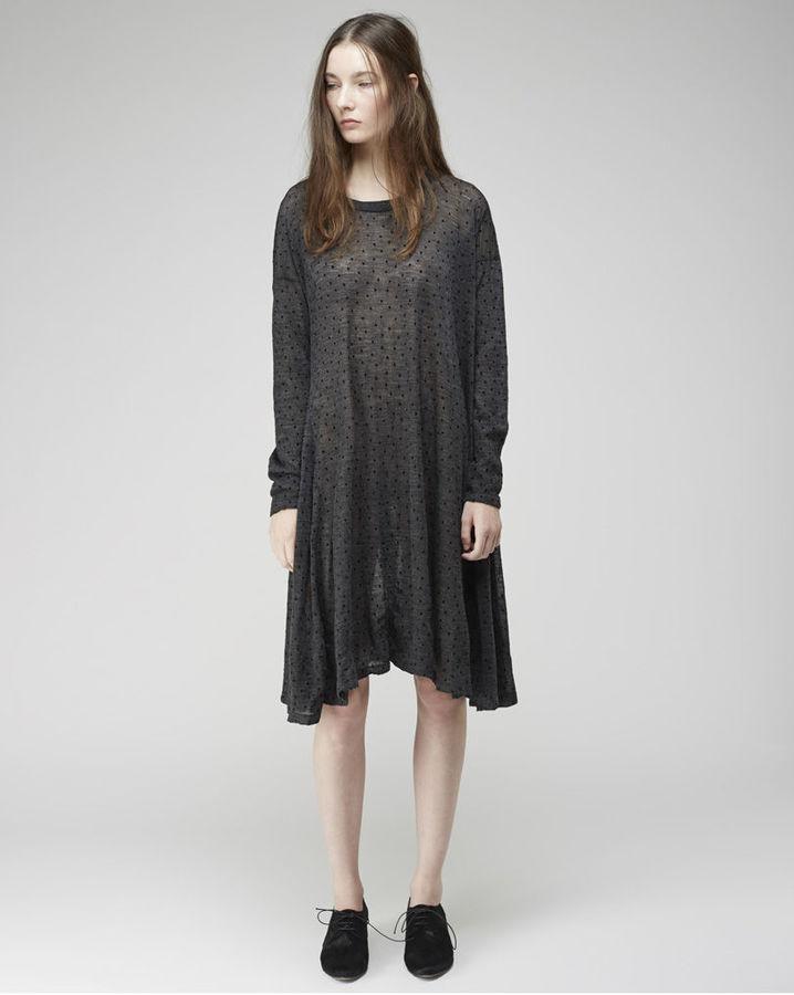 Zucca flocked dot dress