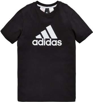 adidas Boys Logo Tee - Black