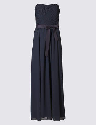 Marks and Spencer Fuller Bust Detachable Straps Pleated Maxi Dress