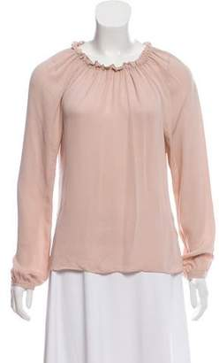 Rebecca Taylor Long Sleeve Ruffle Top w/ Tags
