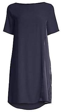 Eileen Fisher Women's Silk Bateau Neck Dress