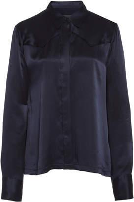 Nili Lotan Mica Silk-Charmeuse Shirt