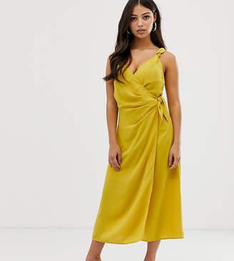 Fashion Union Petite wrap midi dress