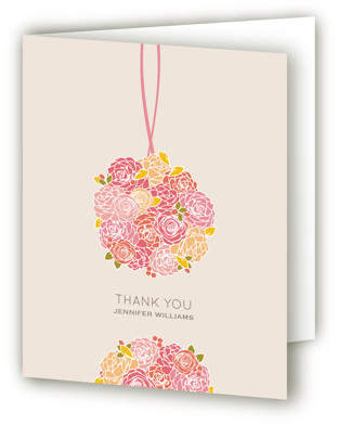Kissing Ball Bridal Shower Thank You Cards