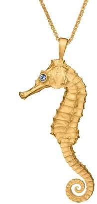 Wild & Fine Maya Gold Seahorse Pendant Tanzanite Eyes