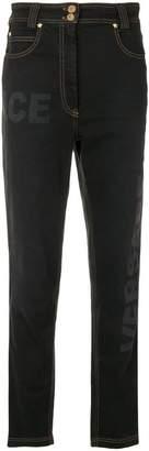 Versace high-waisted jeans