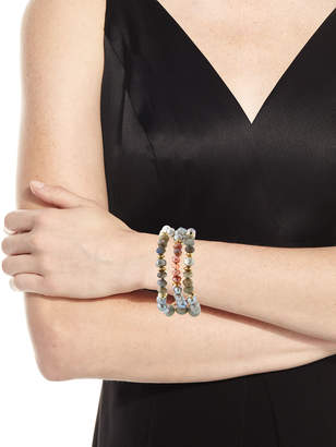 Neiman Marcus Akola Three-Strand Pearly Beaded Bracelet