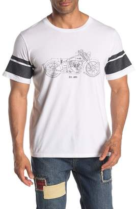 OVADIA AND SONS Motorcycle Print Graphic T-Shirt