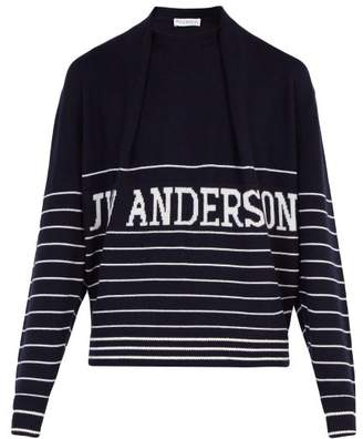 J.W.Anderson Logo Knitted Jumper - Mens - Navy