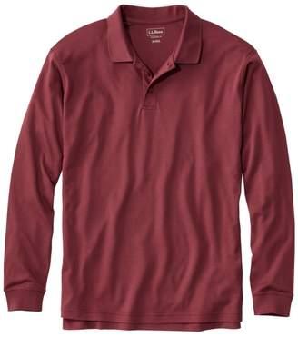 L.L. Bean L.L.Bean Men's Pima Cotton Polo, Traditional Fit Long-Sleeve