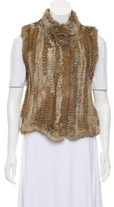 Haute Hippie Fur Wool-Trimmed Vest