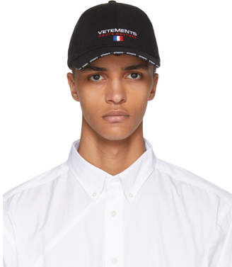 Vetements Black Haute Couture Logo Baseball Cap