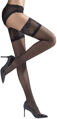 Natori Feathers Silky Sheer Lace Top Tights