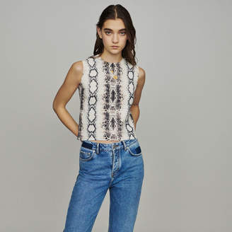 Maje Sleeveless sweater in python print