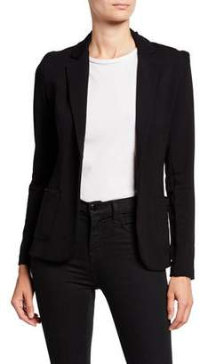 Neiman Marcus Majestic Paris for One-Button Fitted Long-Sleeve Blazer
