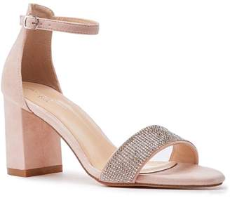 780e6ca076 Barely There Paradox London Vanna Nude Low Block Heel Sandals