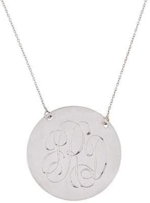 14K Monogram Pendant Necklace