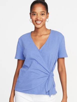 Old Navy Textured Wrap-Front Side-Tie Top for Women