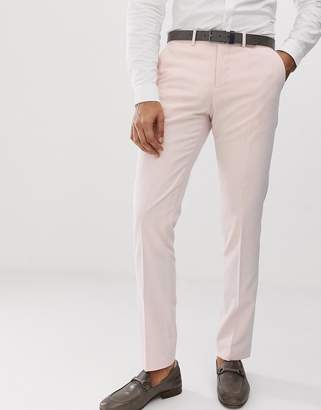 Lindbergh Slim Fit Wedding Suit Pants In Light Pink