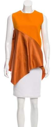 Narciso Rodriguez Colorblock Asymmetrical Top
