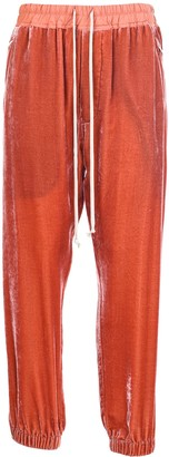 Rick Owens Drawstring Velour Track Pants