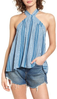 Women's Mimi Chica Stripe Halter Top $35 thestylecure.com