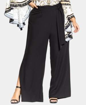 City Chic Trendy Plus Size Split-Leg Pants