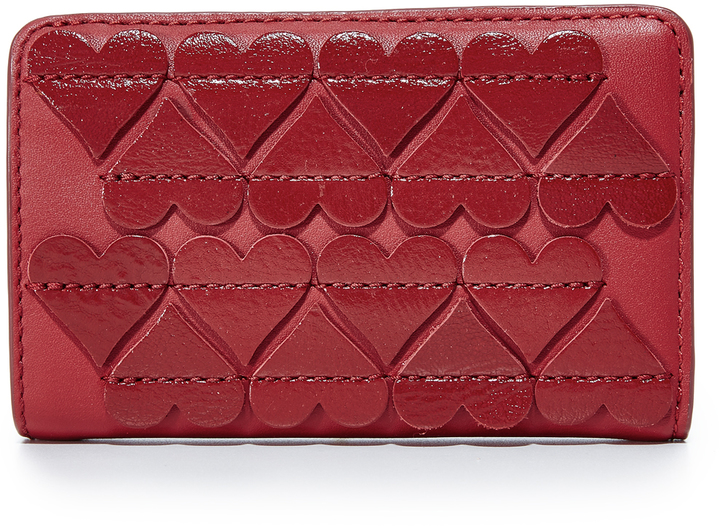 Marc Jacobs Marc Jacobs Stitched Hearts Compact Wallet